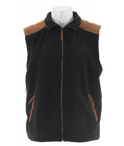 Stormtech Kootenay Suede Fleece Vest Black