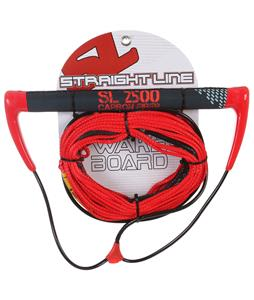 Straight Line 2500 Carbon Handle w/ Dyneema Line Combo Red