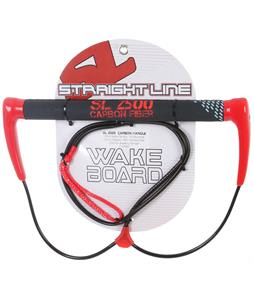 Straight Line 2500 Carbon Wakeboard Handle Red