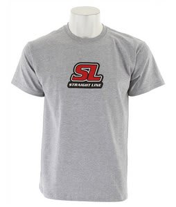 Straight Line Corp Logo T-Shirt Grey