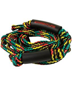 Straight Line Knotted Wake Surf Handle/Rope Combo Rasta