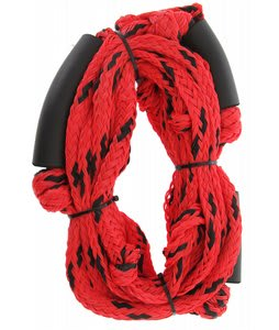Straight Line Knotted Wake Surf Rope Red