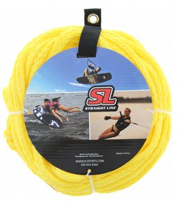 Straight Line Wake Stock Tube Rope Yellow