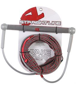 Straight Line Team Grey Handle w/ Uline Line Combo Grey/Red