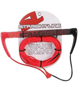 Straight Line Amoeba-Tak Handle w/ Dyneema Line Combo Red/Red 70Ft