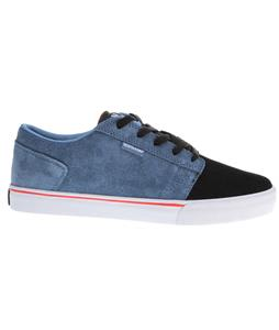 Supra Amigo Skate Shoes Blue Suede/Black/White/Red