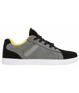 Supra Bullet Skate Shoes Black/Grey Suede