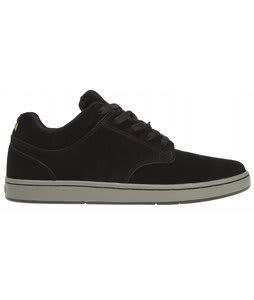 Supra Dixon Skate Shoes Black Canvas/Grey