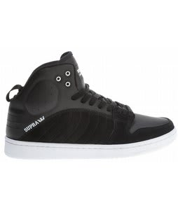 Supra S1W Skate Shoes Black Suede