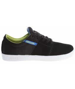 Supra Stacks Skate Shoes Black Suede