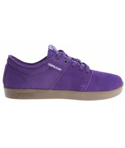 Supra Stacks Skate Shoes Purple Suede