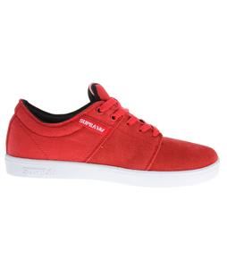 Supra Stacks Skate Shoes Red/White