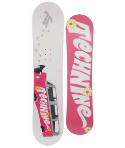 Technine Girls Series Snowboard White/Pink 121