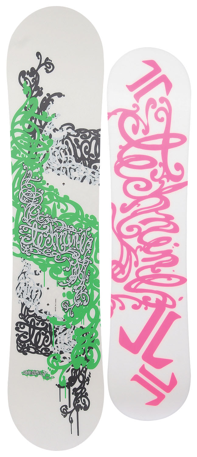 Shop for Technine Girls Series Snowboard White/Silver 111