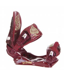 Technine Suerte Snowboard Bindings Maroon