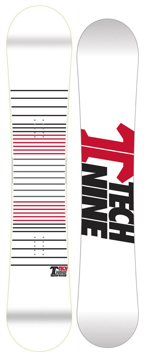 Shop for Technine Wassup Rocker Snowboard White Lines 152 - Men's