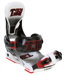 Technine Simon Chamberlain Pro Snowboard Bindings White Fade