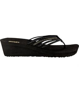 Teva Mush Adapto Wedge Sandals Studded Black