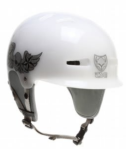 TSG Recon Wake Helmet Clear White Skull