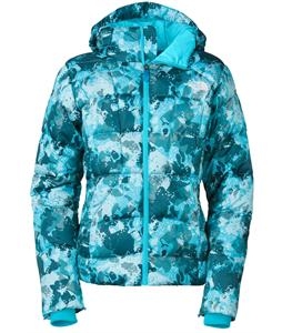 The North Face Destiny Down Novelty Ski Jacket Turquoise Blue Camo