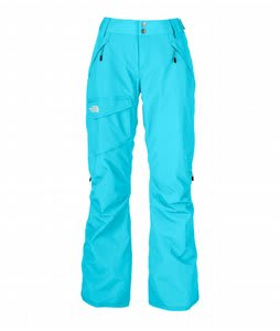 The North Face Freedom LRBC Insulated Ski Pants Turquoise Blue