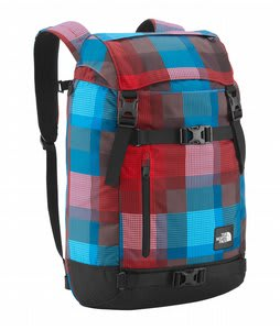 The North Face Pre-Hab Backpack Fiery Red Plaid