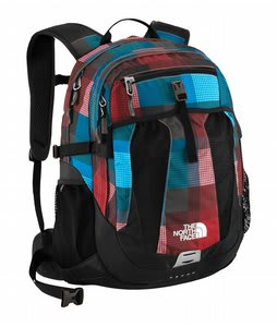 The North Face Recon Backpack Fiery Red Plaid