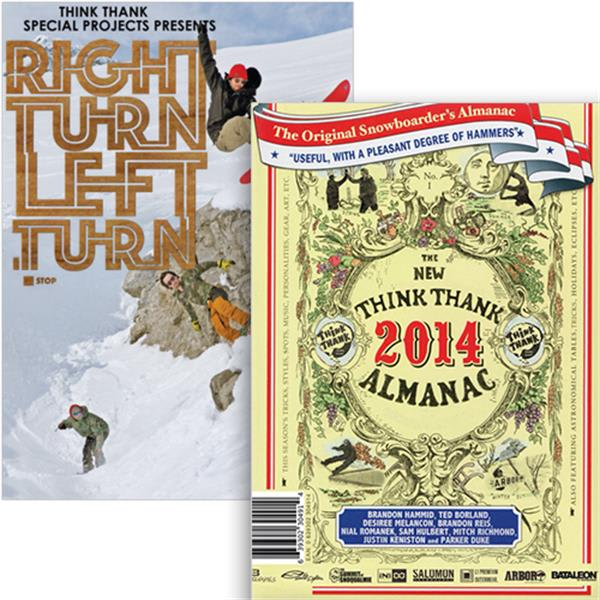 Think Thank Almanac/Right Turn Left Turn Snowboard DVD/Blu-Ray