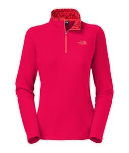 The North Face Glacier 1/4 Zip Fleece Cerise Pink Heather
