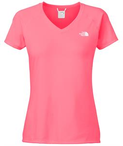The North Face Reaxion Amp V-Neck Shirt Sugary Pink