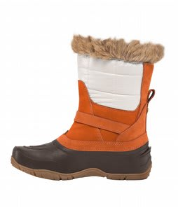 The North Face Shellista Pull On Boots Shiny Moonlight Ivory/Leather Brown