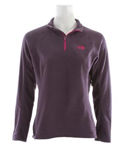 The North Face TKA 100 Microvelour Glacier 1/4 Zip Fleece Grand Purple