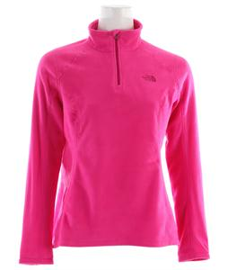 The North Face TKA 100 Microvelour Glacier 1/4 Zip Fleece Linaria Pink