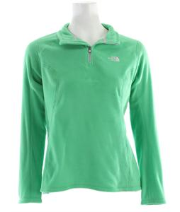 The North Face TKA 100 Microvelour Glacier 1/4 Zip Fleece Mojito Green