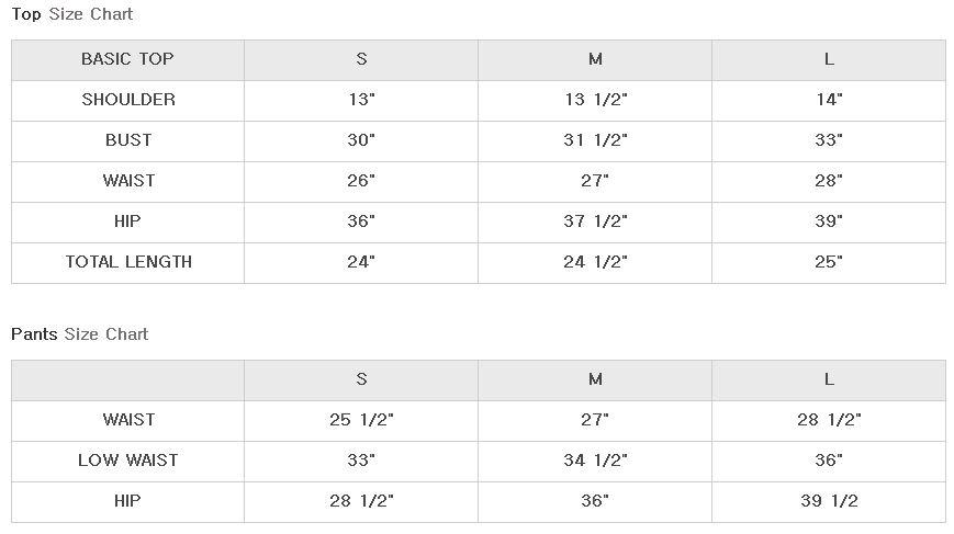 Tres Bien Size Chart