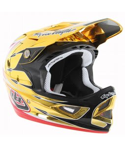 Troy Lee Designs D3 Comp Bike Helmet Palmer Gold/Red
