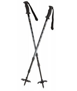 Tubbs 3 Piece Pole Snowshoe Poles Black/Gray