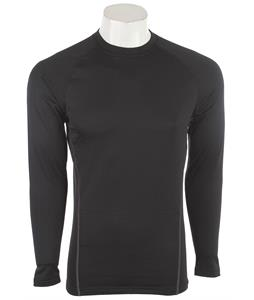 Under Armour Base 2.0 Crew Baselayer Top Black/Battleship/School Bus