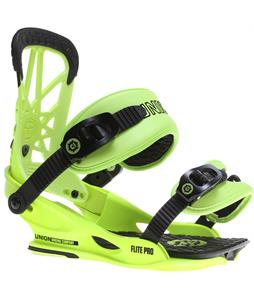Union Flite Pro Snowboard Bindings Neon Yellow