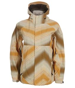 Vans Marok Snowboard Jacket Vanilla Yellow Dot Fade Print