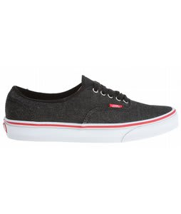 Vans Authentic Shoes (Denim) Black/True White