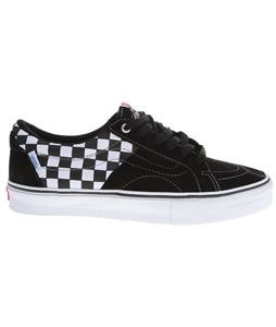 Vans AV Native American Low Skate Shoes (Checkerboard) Black/White/Blue