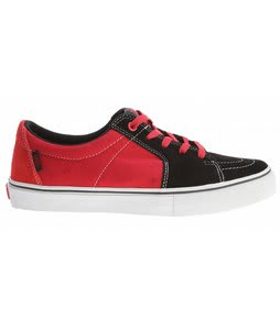 Vans AV Sk8-Low Skate Shoes Black/Scarlet