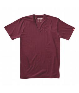 Vans Basic V-Neck T-Shirt Blue Burgundy Heather