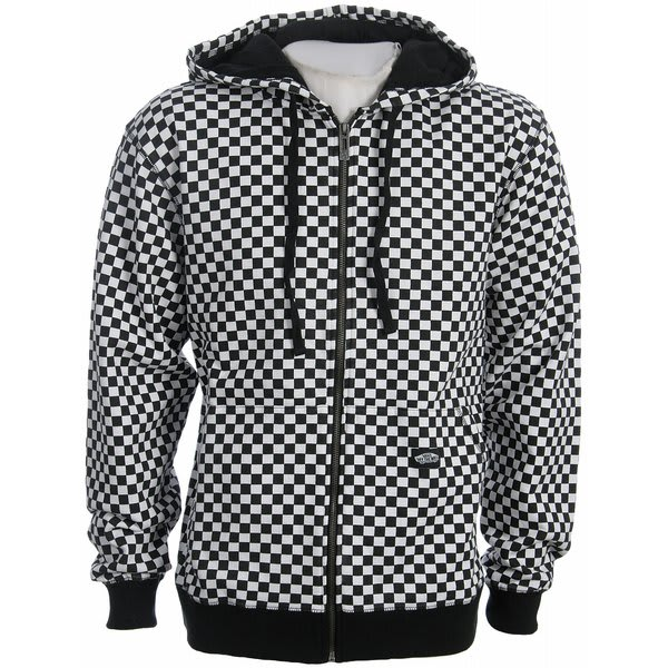 On Sale Vans Checkerboard Zip Hoodie Up To 80 Off