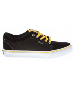 Vans Chukka Low Skate Shoes Black/Yellow