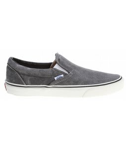 Vans Classic Slip On Shoes (Washed) Black