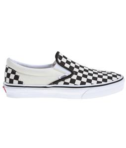Vans Classic Slip On Shoes Black And White Checker/White