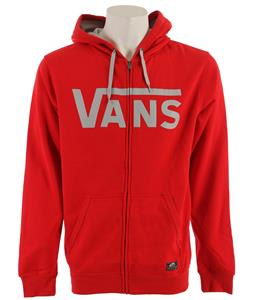 Vans Classic Zip Hoodie Reinvent Red/Pebble