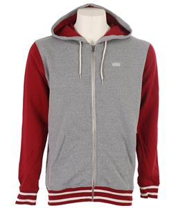Vans Core Basic Colorblock Zip III Hoodie Redrum/Concrete Heather
